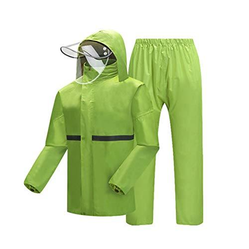 Per Giorno Tuta Pioggia E Di escursionismo Bright Ecc Equitazione Outdoor campeggio Split equitazione Donne Impermeabile Green Uomini Jtwj Pioggia Adatto Rainstat Adulto Pantaloni Otfd6tnqw