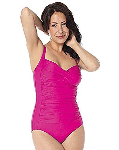 Belvia adelgazamiento para mujer Bañador–magenta–Reino Unido tamaño 14