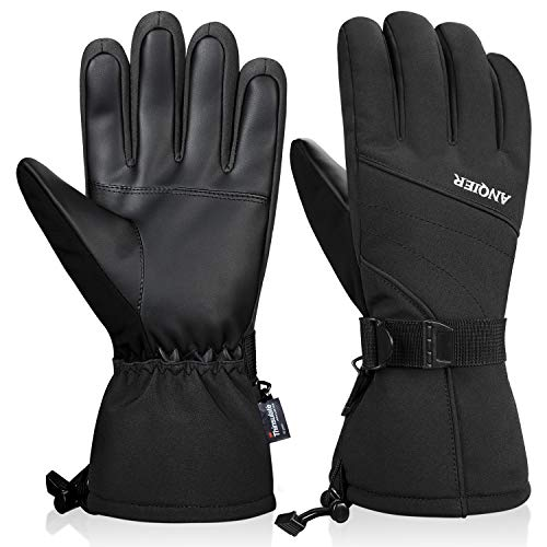 LANYI Mens Gloves Winter Waterproof Thinsulate Insulated Ski Gloves Snowboard Driving Outdoors Warm...