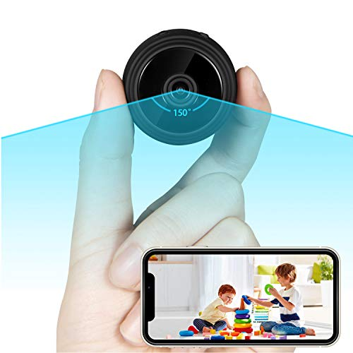 Wi-Fi Spy Camera Wireless Hidden with Audio and Video, Mini Spy Hidden Camera Detectors, Nanny Camera with Real-Time Monitoring, 1080P HD, Night Vision, 150° Wide Angle (Android, iOS, Windows, Mac)