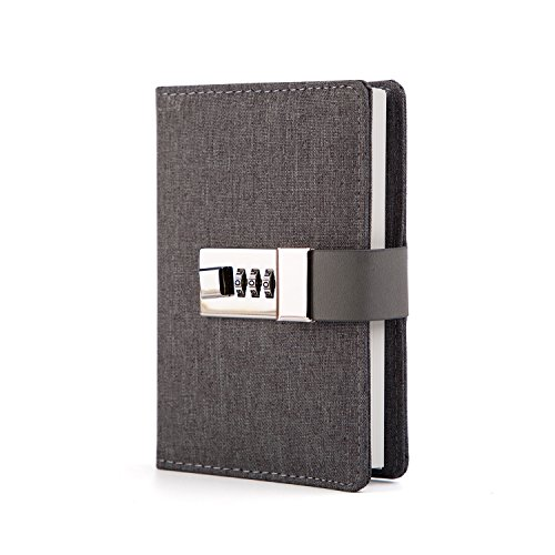 Lock Journal Combination Lock Writing Travel Diary a7 Mini Notebook (Notebook Durable Lock)