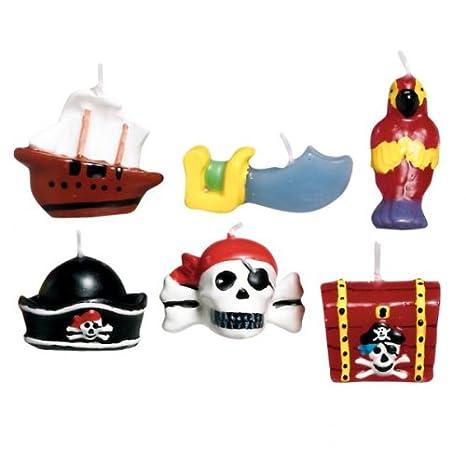Pirata Tesoro Mini molde velas para tarta de cumpleaños (6 unidades) 6217: Amazon.es: Hogar