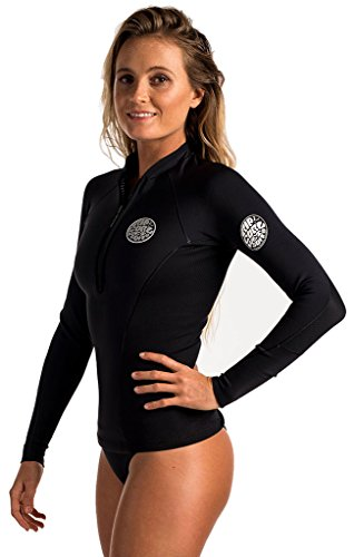 39c4515cad5 Rip Curl G Bomb Long Sleeve Front Zip Jacket, Black/Black, Size 6