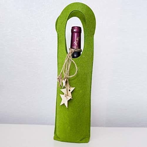 Explosive Christmas Red Wine Bottle Set Felt Christmas Single Wine Bag Red Wine Gift Felt Bag