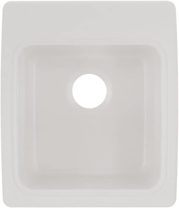Swan SSUS2000.010 Dual Mount Solid Surface Utility Sink-White, 20-in L X 17.25-in H X 10.5-in H