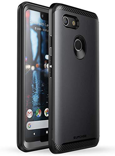 SUPCASE [UB Neo Series] Case for Google Pixel 3 XL , with Built-in Screen Protector Full-Body Protective Dual Layer Armor Cover for Google Pixel 3 XL Case 2018 Release, Retail Package (Black)
