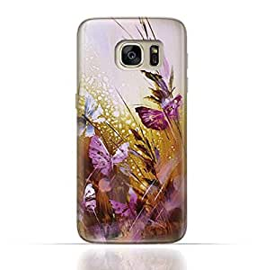 Samsung Galaxy S7 Edge TPU Silicone Case with Butterfly Oil Paint Pattern