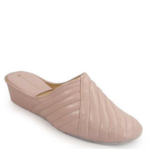 Jacques Levine #1221 Womens Wedge Slipper 8.5M,Pink by Jacques Levine