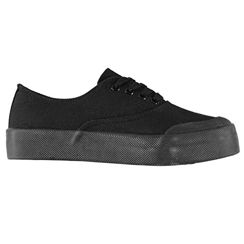 Trainers Womens Black Canvas Fabric Low Terni nxwOfq8OUH