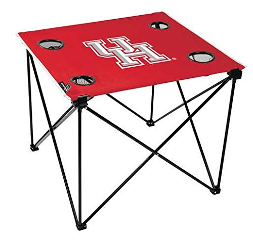 OKSLO University of houston cougars deluxe folding table - tailgate camping