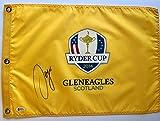 Sergio Garcia signed ryder cup flag 2014 gleneagles