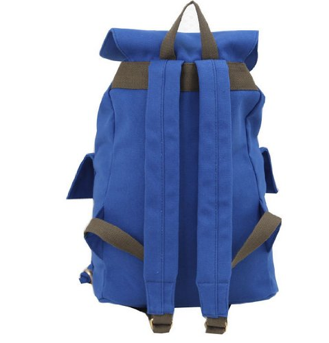 BEIER® LX Canvas bag High capacity Backpack Student Leisure Backpack back to school (10-blue)