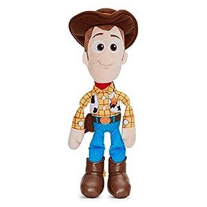 Disney 37267 Pixar Toy Story 4 Woody Soft Doll in Gift Box 25 cm, Blue