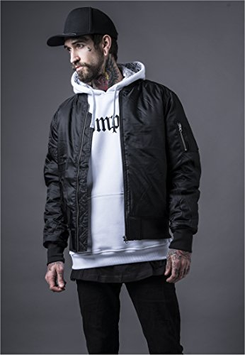 Urban Classics Mens Bomber Jacket TB861 Basic Bomber Jacket Color: black in Size: Medium by Urban Classics