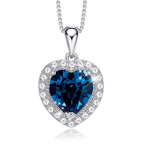 - CDE S925 Sterling Silver Birthstone Necklace for Women Embellished with Crystals from Swarovski Jewelry for Women (September)