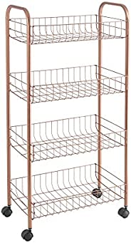 Metaltex Carrito Multiusos 4 Pisos Ascona Copper