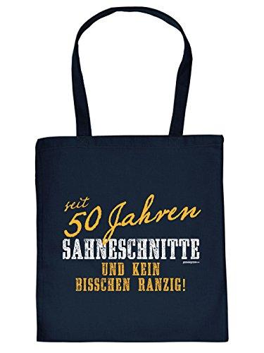 Coole Baumwolltasche zum 50. Geburtstag: SAHNESCHNITTE seit 50 Jahren! Super Geschenk Idee von Goodman Design