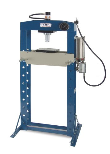 20 Ton Shop Press (Baileigh HSP-20A Pneumatic h-Frame Shop Press, 20 Ton Capacity, 19-1/4