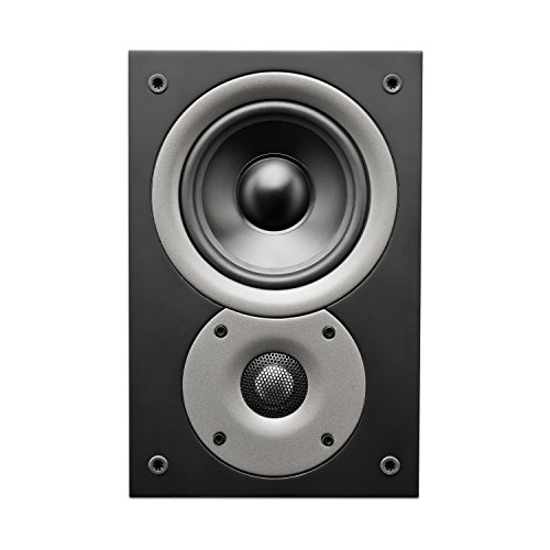Swan Speakers - Jam Lab 6 Home Theater System Rear Speakers - 5.0 Stereo Sleek Home Theater System - 5'' Midrange Drivers & 26mm Dome Tweeters -
