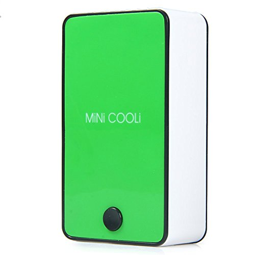 Wooboo Mini Cooli Portable USB Rechargeable HandHeld Air Conditioner Summer Cooler Fan,Batteries Powered No Leaf Fan for Kids (Green) by Wooboo (Image #2)