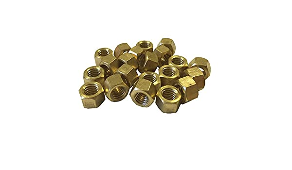 20 x Brass Exhaust Imperial Manifold Nuts 3//8 UNF High Temperature