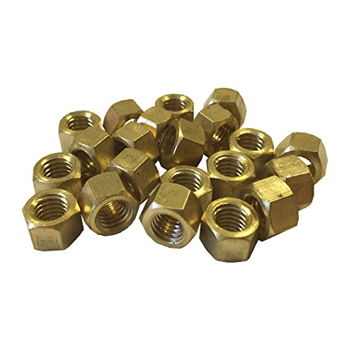 Smarthome 8 x Brass Exhaust Imperial Manifold Nuts 3/8 UNF High (Brass Exhaust)
