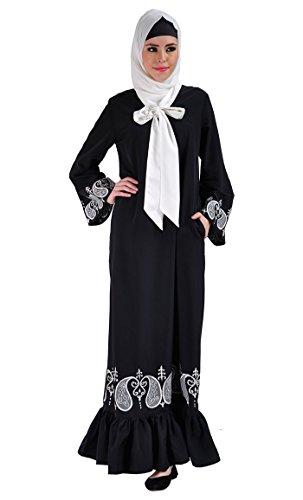 East Durchgehend Schwarz Essence Schwarz Kleid Damen F7rPFg