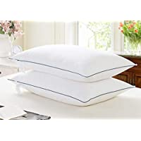 Avekin Cotton and Fiber Filled Pillows -White, 17X 27 Inch (Set of 2)