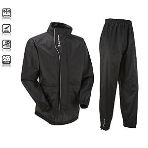 "Tenn Unisex Active Cycling Jacket & Trouser Set - Black, Chest 46-48"" - 2XL"