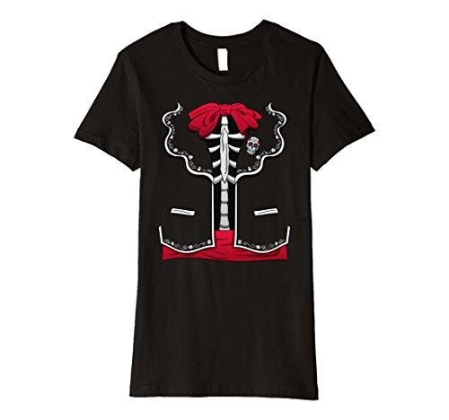 Womens Day Of The Dead Halloween Costume Dia de los Muertos T-Shirt XL Black