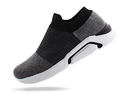 Jabasic Mens Ultra-Sock Knit Running Sneaker Breathable Slip on Walking Shoes