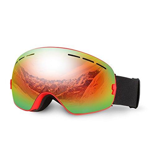 ... pour Homme et Femme 3104 Rouge. B01LPQYXU0. Lunettes de Ski, Hicool  Masque de Snowboard Antibuée Anti-UV Grand-angle de 9d166de6b21a