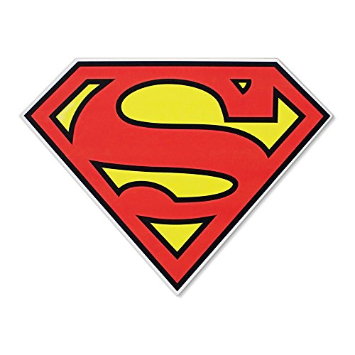 Silver Buffalo SP1006 DC Comics Silver Buffalo Superman Logo Die Cut Sign, 11.75 x 9 - Wall Logo Superman