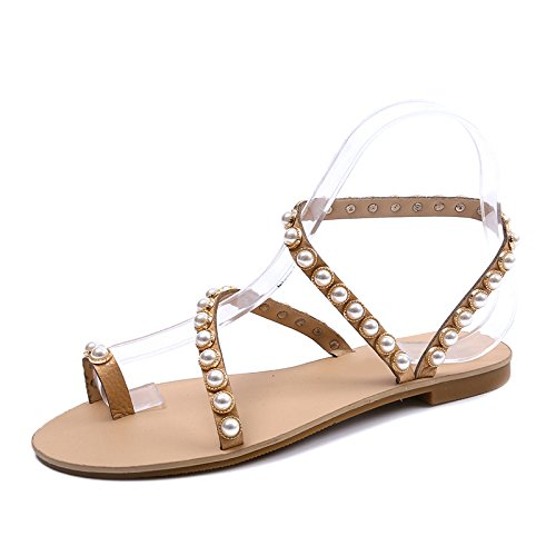 toe sandals pierna rivets and beach toe student toe bottomed female Flat gawx55