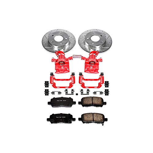 Power Stop KC1602A 1-Click Performance Brake Kit with Calipers, Rear Only