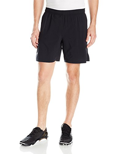 Under Armour Men's Launch 2-in-1 Shorts, Black (001)/Reflective, Large by Under Armour (Image #1)