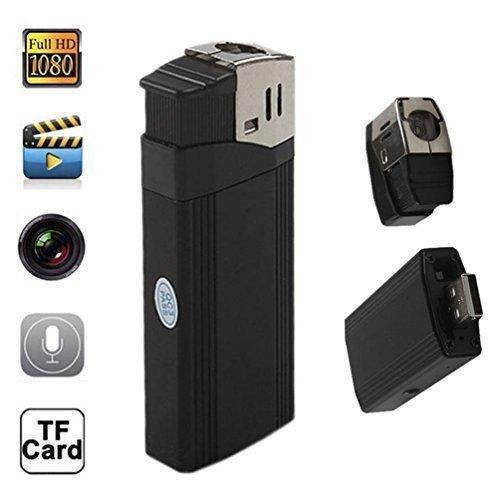 Ugetde® Hd 1080P Mini Lighter Hidden Camera with Highlighted Flashlight Support Tf Card Lighter DVR (Cigarette Lighter Spy Recorder)