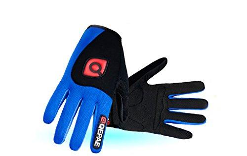 Gants De Sport Bleu Cyclisme Respirant Pour Full Extérieur Homme Finger Andyshi wfq1pK