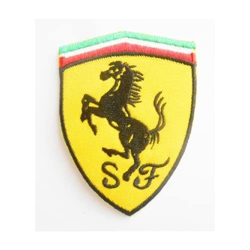 Rally Patches Embroidery Patch Sport Automobile /Écusson brod/é Iron on Patch Car Motorsport Racing Ferrari