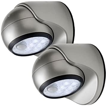 Light It Wireless Silver Battery Operated By Fulcrum 6-LED Motion Sensor Security Light