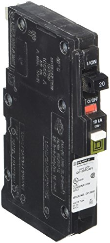 (Square D by Schneider Electric QO120PCAFI  20-Amp Single-Pole Plug-On Neutral CAFCI Circuit Breaker )