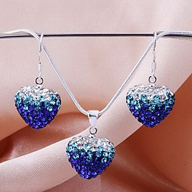 FLOW ZIG New Shamballa drop beads earring necklace pendant set Micro Pave CZ Disco Ball Bead