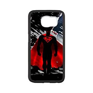 Fayruz- Personalized Protective Hard Textured Rubber Coated Case Cover for Samsung Galaxy S6 - Superman -S6O1302