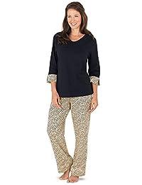 PajamaGram Women's Leopard Print Lounge Pajamas