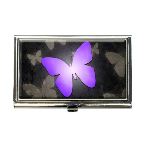 Purple Butterfly Butterflies Business Credit Card Holder Case Butterfly Business Card