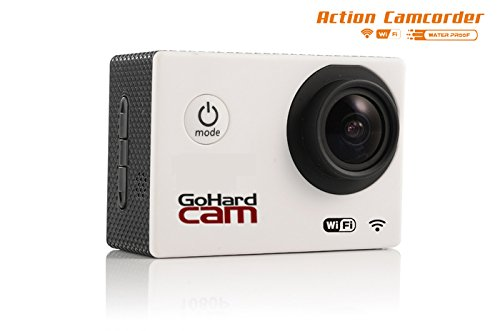 GoHard Sw28 (silver) Action Camera Camcorder Wifi Enabled 1080P 12 MEGA PIXEL H.264 1.5INCH SCREEN 170 DEGREE WIDE ANGLE LENS WATERPROOF OUTDOORS SPORS HOME AND CAR SECURITY HD DV CAR DVR CAMERA WORKS WITH IPHONE AND SAMSUNG GALAXY SERIES PHONES WITH APP. LOW INTRODUCTORY PRICE SAVE NOW