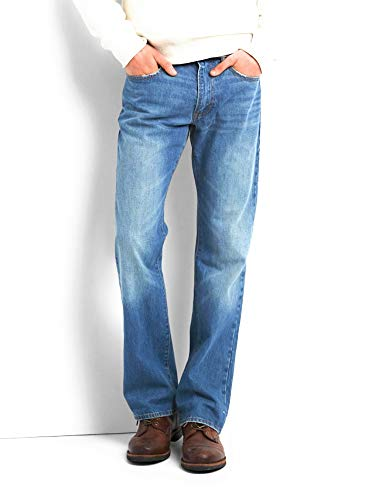 GAP Men's Boot Jeans, Bright Stone Wash, Non-Stretch (32x30)