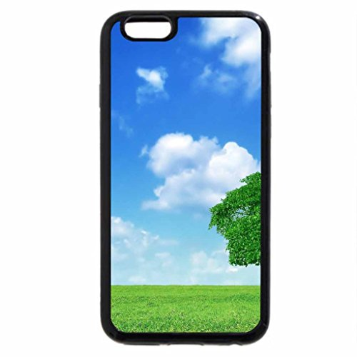 iPhone 6S / iPhone 6 Case (Black) Meadow with poppies