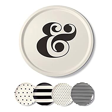 Kate Spade New York Melamine Raise a Glass Platter and Melamine 4 Pack Coasters