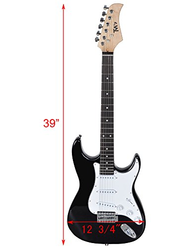 tms full size electric guitar w 10 watt amp gig bag case guitar strap for beginners buy. Black Bedroom Furniture Sets. Home Design Ideas